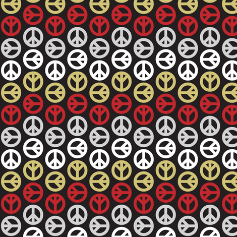 Peace Wave - Gold fabric by mag-o on Spoonflower - custom fabric