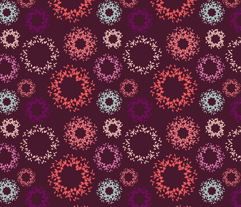 Bursts-Plum fabric by kelly_ventura on Spoonflower - custom fabric