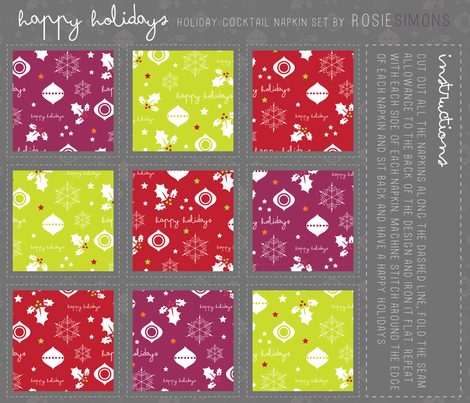 Happy Holidays fabric by rosiesimons on Spoonflower - custom fabric