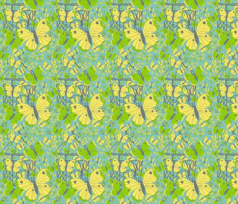 Flights of Fancy fabric by linsart on Spoonflower - custom fabric