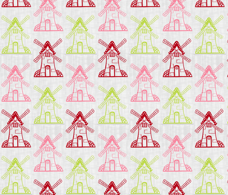 Windmill Trio fabric by rileyconstruction on Spoonflower - custom fabric