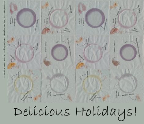 Delicious Holidays Cocktail Napkins fabric by snowskywalker on Spoonflower - custom fabric
