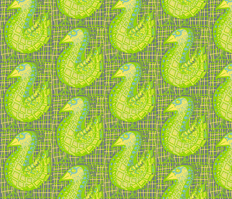 Pattern Bird, woven background