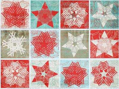 Starflakes - Poinsettia-Ice-Linen