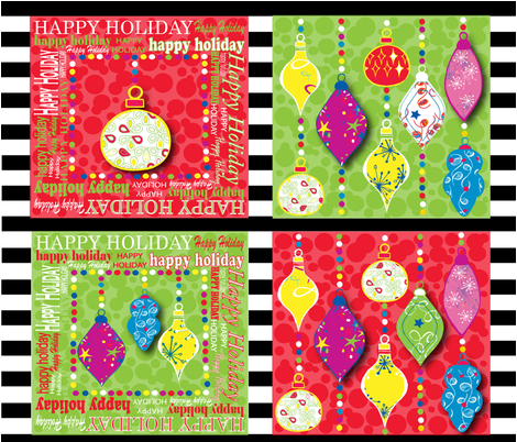 Holiday_cocktail_sparkle-01 fabric by leska_hamaty_design on Spoonflower - custom fabric