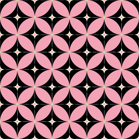 Bollywood_kolam2in_pink fabric by vannina on Spoonflower - custom fabric