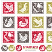 Christmas birds napkins