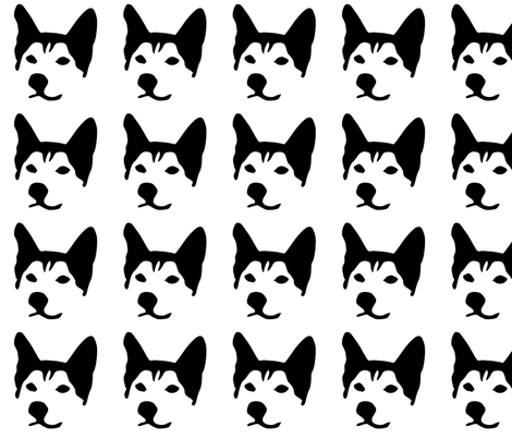 husky small in a row fabric by mariafaithgarcia on Spoonflower - custom fabric