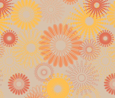 Abstract Flowers fabric by angel_mio on Spoonflower - custom fabric