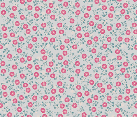 Flora (grey) fabric by biancagreen on Spoonflower - custom fabric
