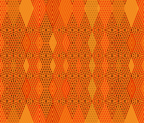 Orange Over Orange fabric by wren_leyland on Spoonflower - custom fabric