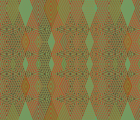 op-art-green-red fabric by wren_leyland on Spoonflower - custom fabric