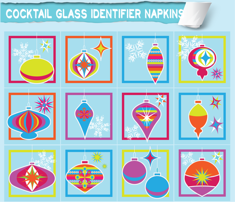 Cocktail glass identifier napkins fabric by bbsforbabies on Spoonflower - custom fabric