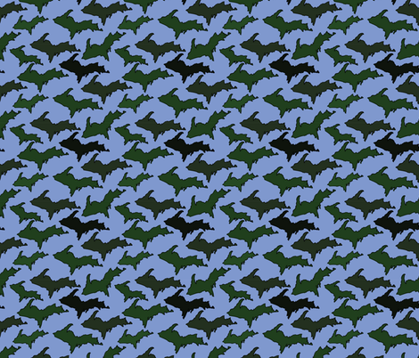 Blue U.P. Camo fabric by hmooreart on Spoonflower - custom fabric