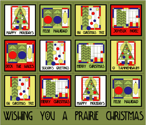 Prairie Christmas Cocktail Napkins fabric by holly_helgeson on Spoonflower - custom fabric