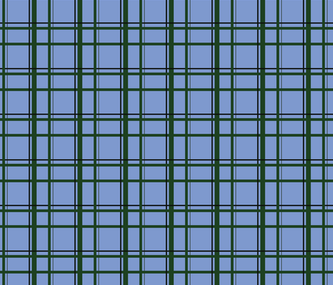 Blue U.P. Plaid fabric by hmooreart on Spoonflower - custom fabric