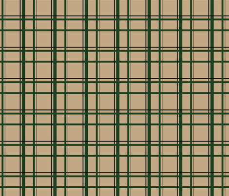 Tan U.P. Plaid fabric by hmooreart on Spoonflower - custom fabric