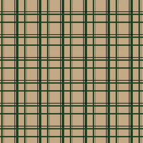 Tan U.P. Plaid