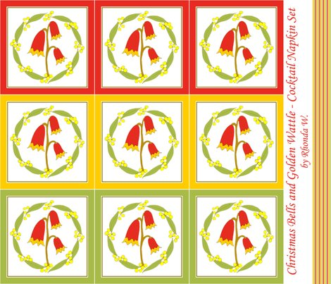 Rrchristmas_bells_and_golden_wattle_cocktail_napkins_3_colours_natural_by_rhonda_w_shop_preview