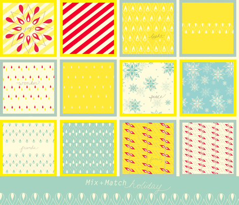 Mix + Match Holiday! fabric by fable_design on Spoonflower - custom fabric