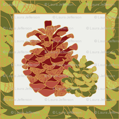 Pine Cone Cocktail Napkin