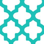 Moroccan Quatrefoil in Turquoise