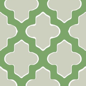 Moroccan in Green and Gray