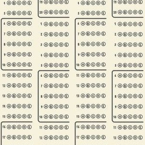 Scantron circles