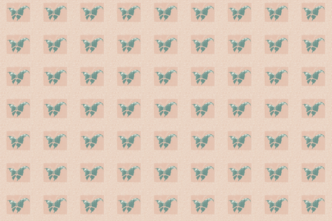 Butterfly woodblock-ed fabric by materialsgirl on Spoonflower - custom fabric