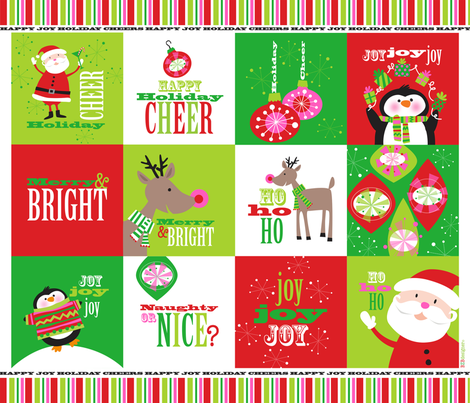Holiday Cheer fabric by bzbdesigner on Spoonflower - custom fabric