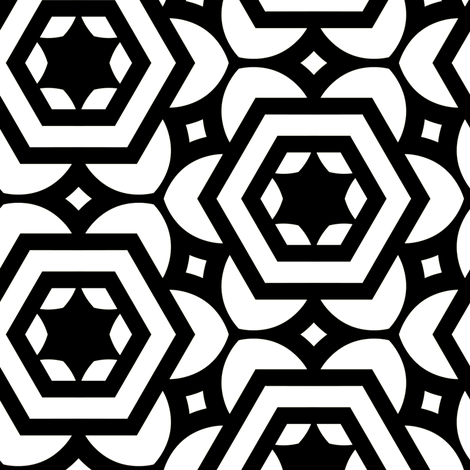 Vogelaar Black & White fabric by stoflab on Spoonflower - custom fabric