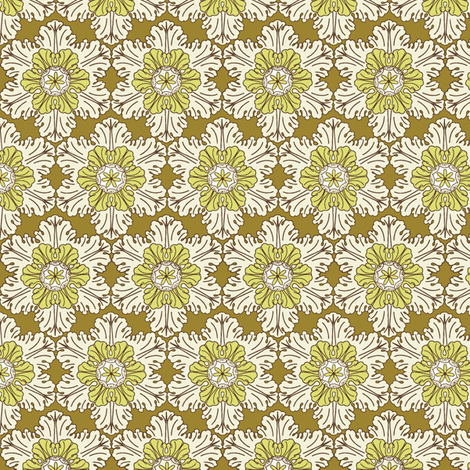 Snowflake in Gold fabric by horn&ivory on Spoonflower - custom fabric