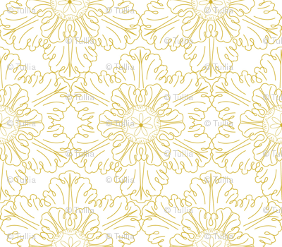 Snowflake in gold