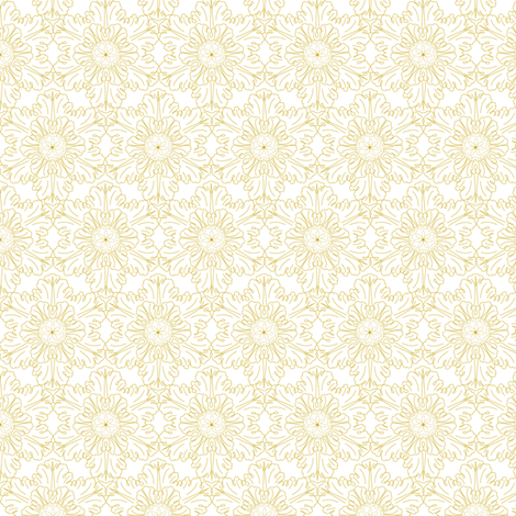 Snowflake in gold fabric by tullia on Spoonflower - custom fabric