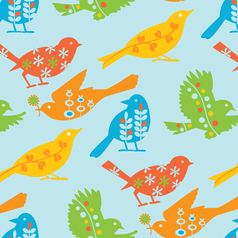 tweet_primary2 fabric by kayajoy on Spoonflower - custom fabric