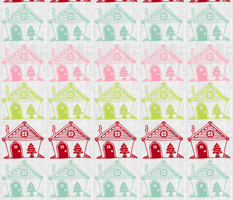 Four Houses fabric by rileyconstruction on Spoonflower - custom fabric