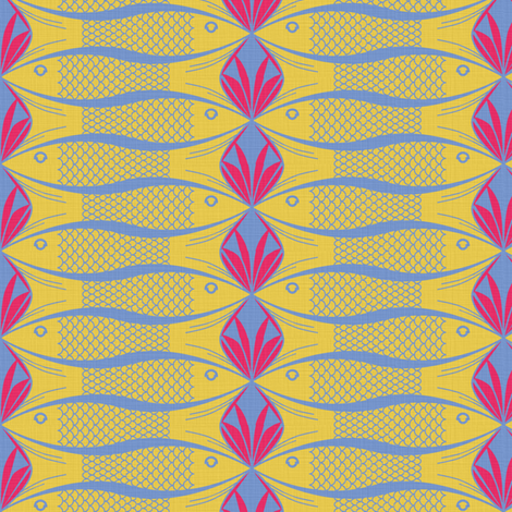 Fish and Coral 2 fabric by sary on Spoonflower - custom fabric