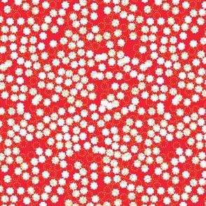 Snowfall in Red