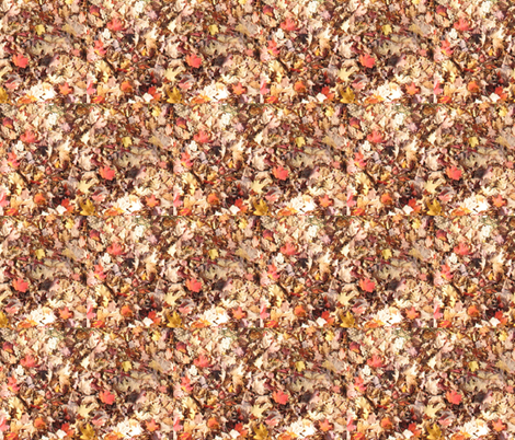 Autumnal Fallen Leaves fabric by theloopweaver on Spoonflower - custom fabric