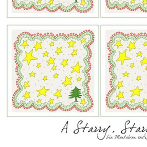 Starry, starry Christmas Cocktail Napkin
