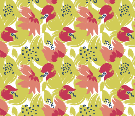 'A Bouquet for Henri' fabric by tscho on Spoonflower - custom fabric