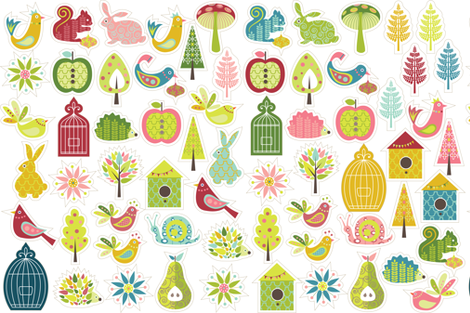 just_ornaments fabric by kayajoy on Spoonflower - custom fabric