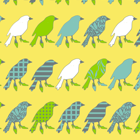 birdline fabric by golders on Spoonflower - custom fabric