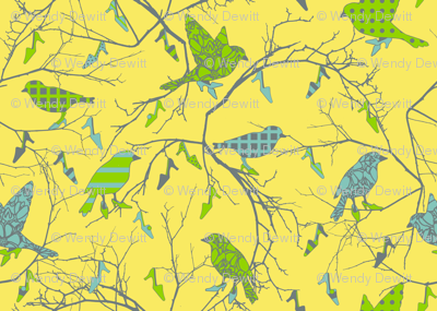 birds in a shoe tree