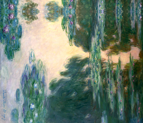 Monet: Waterlilies, 1907 fabric by ninniku on Spoonflower - custom fabric