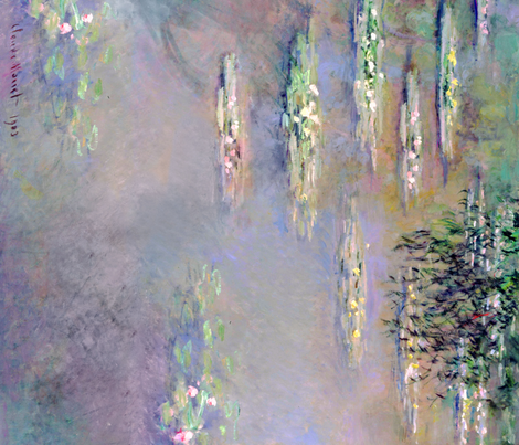 Monet: Waterlilies, 1903 fabric by ninniku on Spoonflower - custom fabric