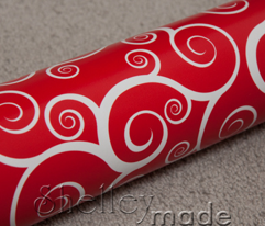 Fancy Swirls - Christmas Red
