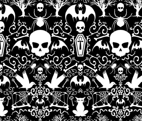 313 Gothic Black fabric by ~lilibat~ on Spoonflower - custom fabric