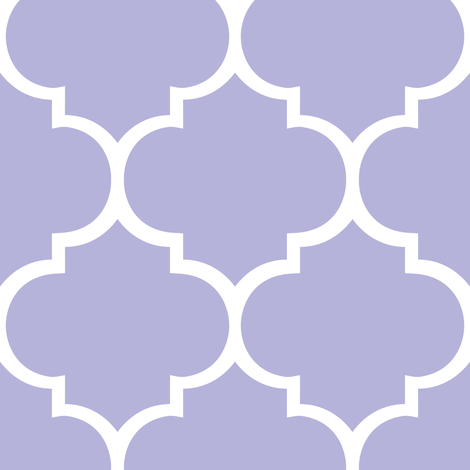 Fancy Lattice Lavender with White Outline fabric by zoetdesign on Spoonflower - custom fabric