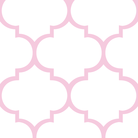 Fancy Lattice Pink Outline fabric by karmie on Spoonflower - custom fabric
